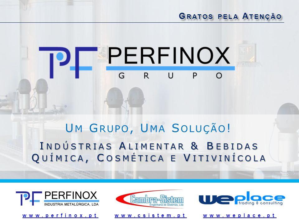 www.perfinox.ptwww.perfinox.pt :: www.csistem.pt :: www.weplace.ptwww.csistem.ptwww.weplace.pt G RATOS PELA A TENÇÃO U M G RUPO, U MA S OLUÇÃO ! I NDÚ