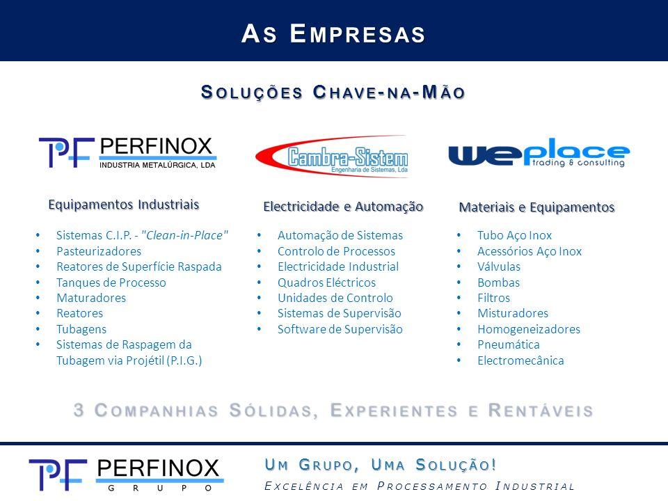 A S E MPRESAS Equipamentos Industriais Sistemas C.I.P. -