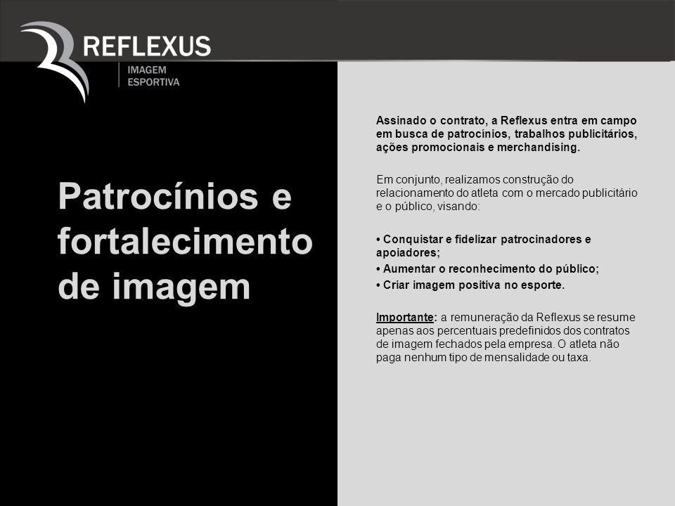 Patrocínios e fortalecimento de imagem Assinado o contrato, a Reflexus entra em campo em busca de patrocínios, trabalhos publicitários, ações promocio