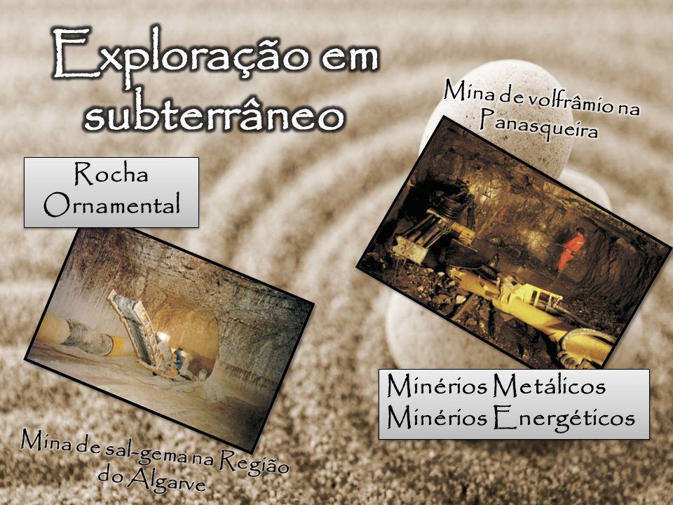 Rocha Ornamental Rocha Ornamental Minérios Metálicos Minérios Energéticos