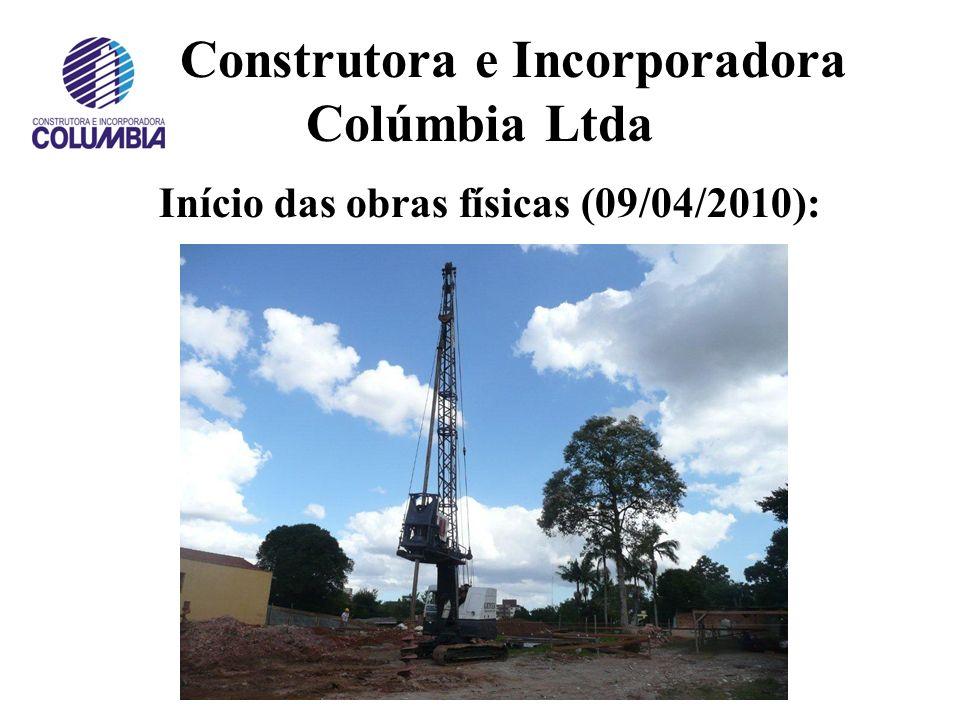 Construtora e Incorporadora Colúmbia Ltda Imagens da evolução da construção do Residencial Flamboyant