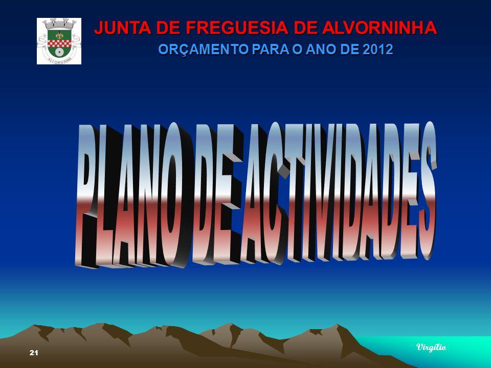 JUNTA DE FREGUESIA DE ALVORNINHA ORÇAMENTO PARA O ANO DE 2012 Virgílio 21