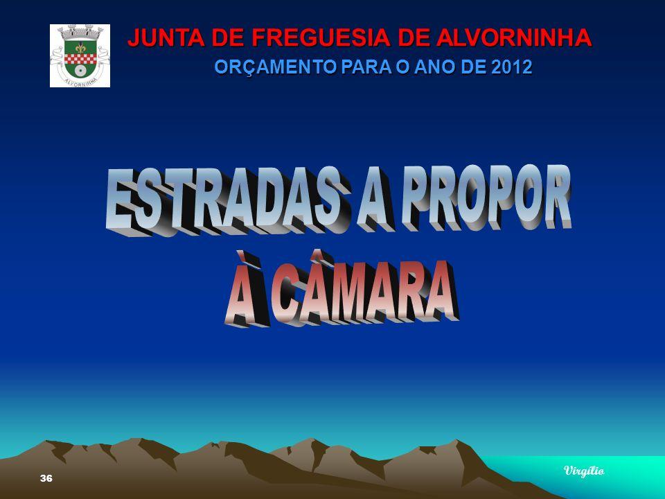 JUNTA DE FREGUESIA DE ALVORNINHA ORÇAMENTO PARA O ANO DE 2012 Virgílio 36