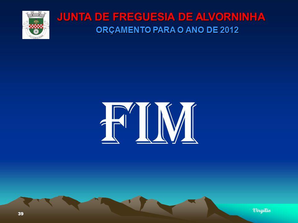 JUNTA DE FREGUESIA DE ALVORNINHA ORÇAMENTO PARA O ANO DE 2012 Virgílio 39 FIM