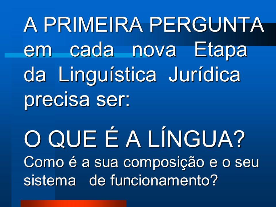 A LINGUÍSTICA JURÍDICA postula que a Língua produz forças jurídicas no Processo. Vamos analisar algumas Sentenças para uma melhor compreensão da Hipót