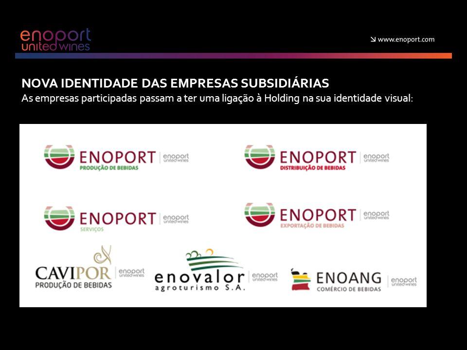 NOVA IDENTIDADE DAS EMPRESAS SUBSIDIÁRIAS As empresas participadas passam a ter uma ligação à Holding na sua identidade visual: