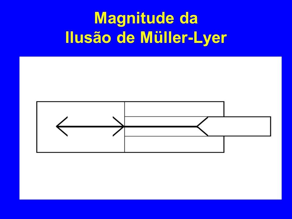 Magnitude da Ilusão de Müller-Lyer
