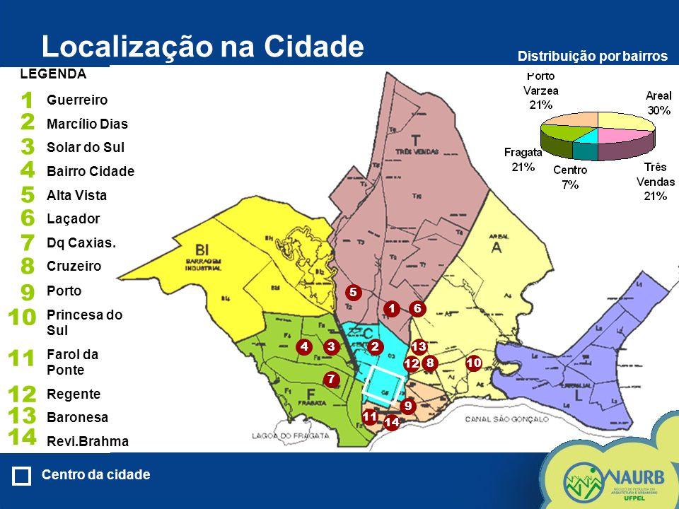 Localização na Cidade LEGENDA 1 2 3 4 5 6 7 8 9 10 11 12 13 14 1 234 5 6 7 8 9 10 11 12 13 14 Centro da cidade Porto Princesa do Sul Farol da Ponte Re