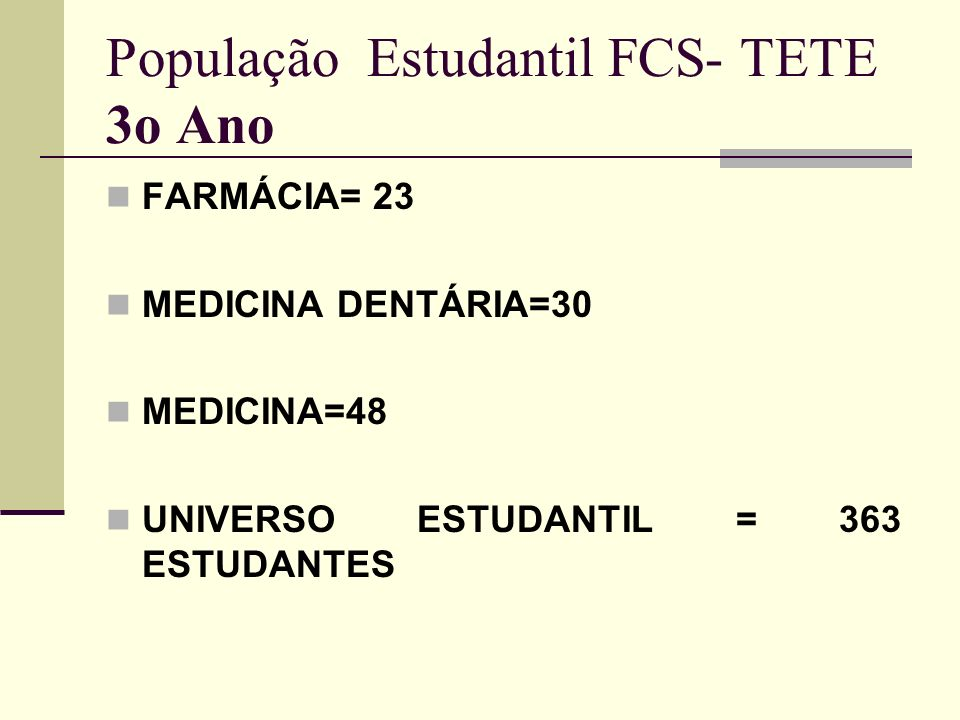 Consultas odontológicas a população de Baixo custo; Análises de água