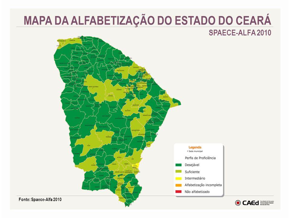 Fonte: Spaece-Alfa 2010 MAPA DA ALFABETIZAÇÃO DO ESTADO DO CEARÁ SPAECE-ALFA 2010