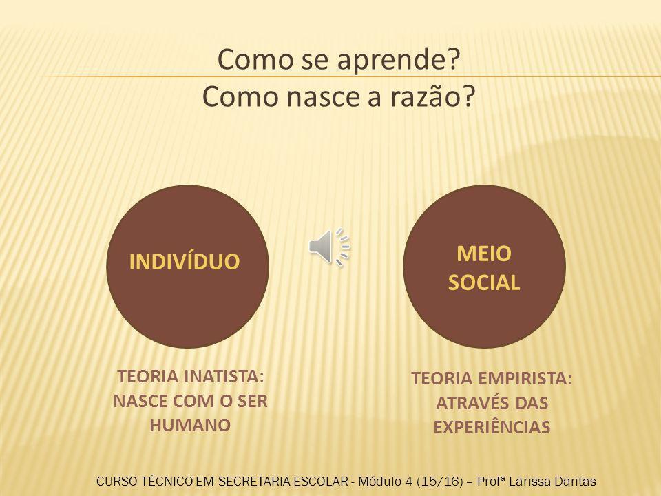 CURSO TÉCNICO EM SECRETARIA ESCOLAR Módulo 4: Planejamento, gestão e legislação educacional Profª Larissa Dantas Setembro / 2013