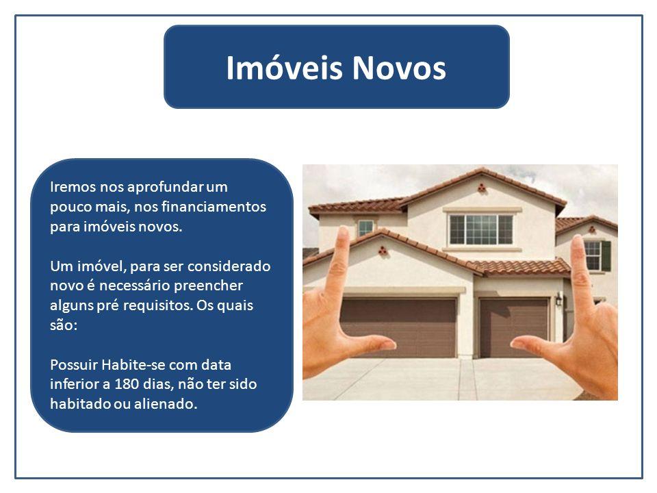 O financiamento para imóveis novos possui cinco linhas de crédito.