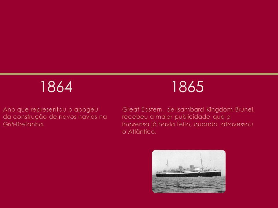 1864 Ano que representou o apogeu da construção de novos navios na Grã-Bretanha.