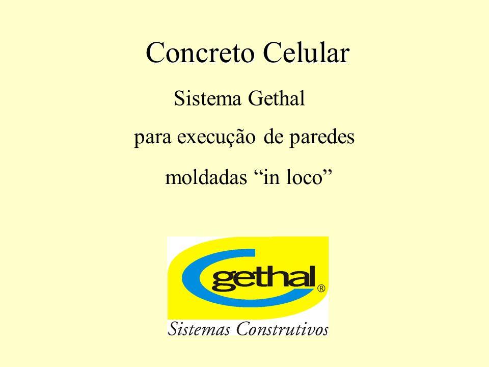 Sistema Gethal de execução de paredes em Concreto Celular O Sistema Gethal de Construção de Habitações permite uma rápida execução de habitações térreas, assim como de pequenos prédios.