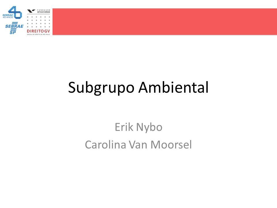 Subgrupo Ambiental Erik Nybo Carolina Van Moorsel