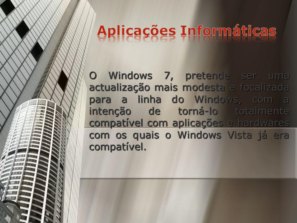Neste caso para a criação de um gabinete de Arquitectura, escolheríamos o Windows 7, porque em primeiro lugar é a mais recente versão do Microsoft Win