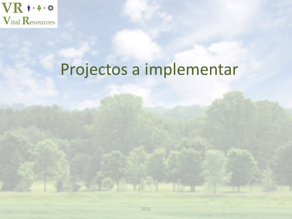 Projectos a implementar 2011