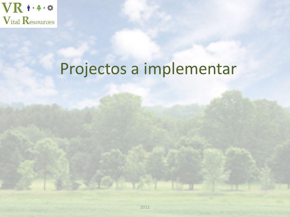 Projectos a implementar 2011