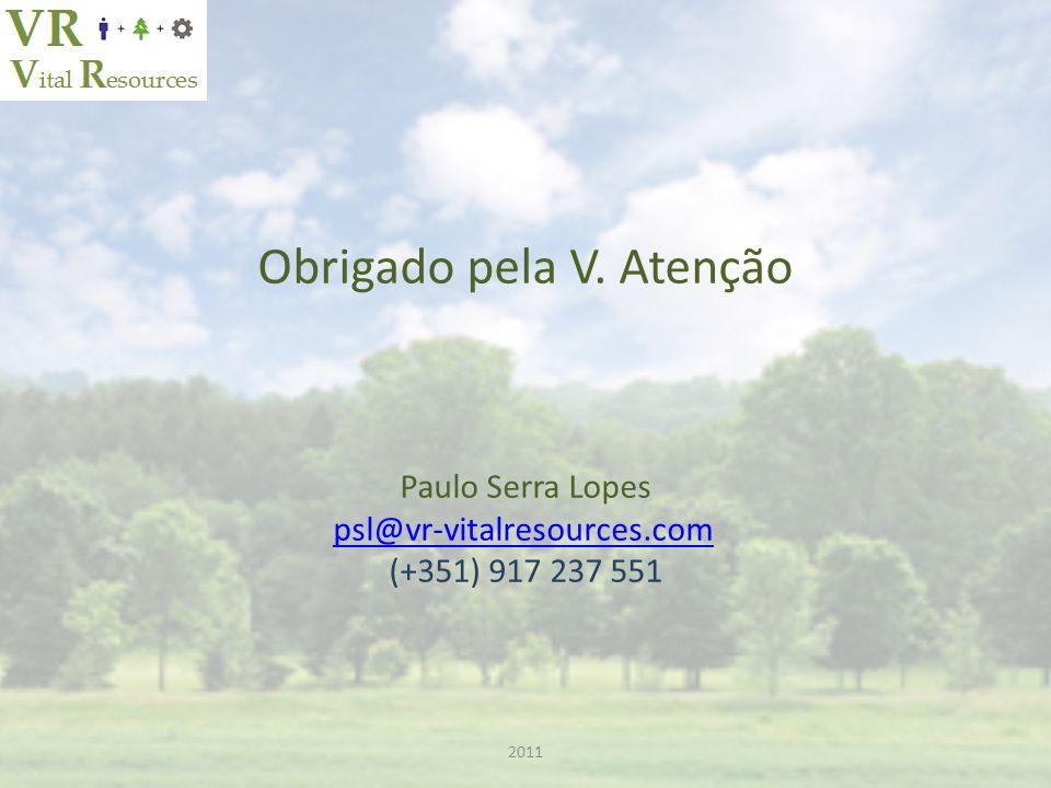 Obrigado pela V. Atenção Paulo Serra Lopes psl@vr-vitalresources.com (+351) 917 237 551