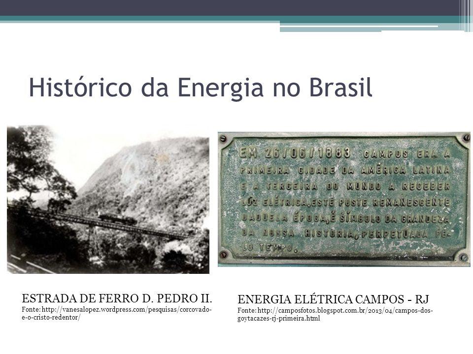 Histórico da Energia no Brasil ESTRADA DE FERRO D. PEDRO II. Fonte: http://vanesalopez.wordpress.com/pesquisas/corcovado- e-o-cristo-redentor/ ENERGIA