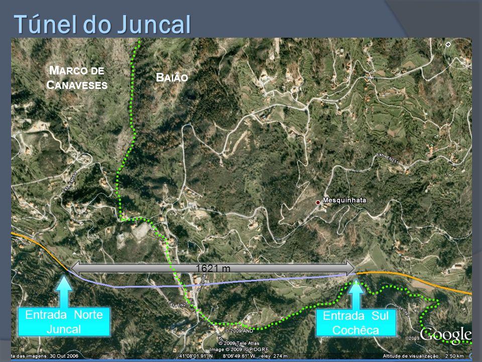 Túnel do Juncal Entrada Norte Juncal 1621 m Entrada Sul Cochêca M ARCO DE C ANAVESES B AIÃO