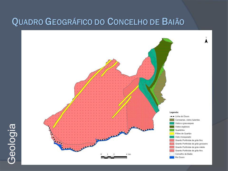 Q UADRO G EOGRÁFICO DO C ONCELHO DE B AIÃO Geologia