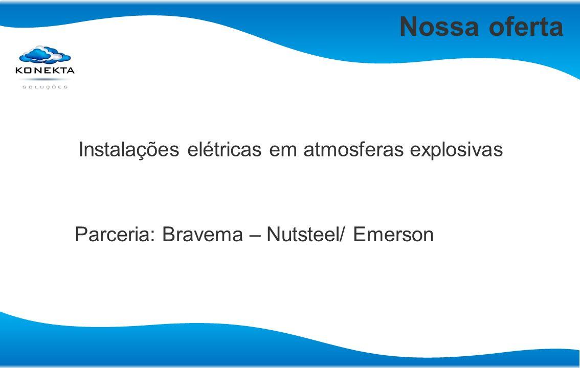 Nossa oferta Instalações elétricas em atmosferas explosivas Parceria: Bravema – Nutsteel/ Emerson