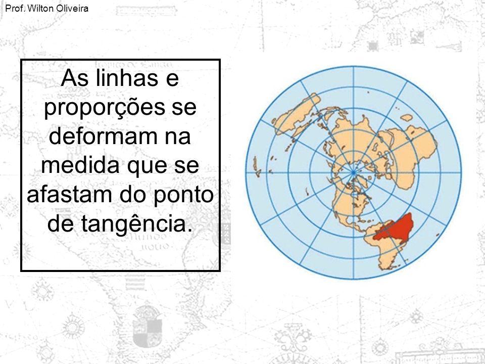 Prof. Wilton Oliveira As linhas e proporções se deformam na medida que se afastam do ponto de tangência.