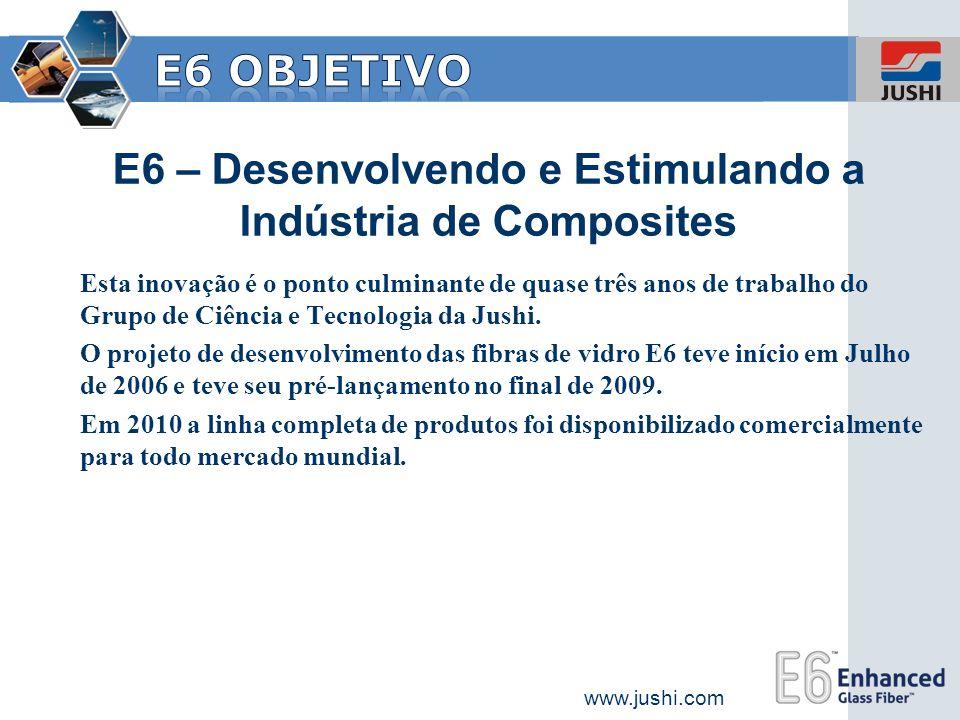 www.jushi.com E6 – Desenvolvendo e Estimulando a Indústria de Composites Esta inovação é o ponto culminante de quase três anos de trabalho do Grupo de
