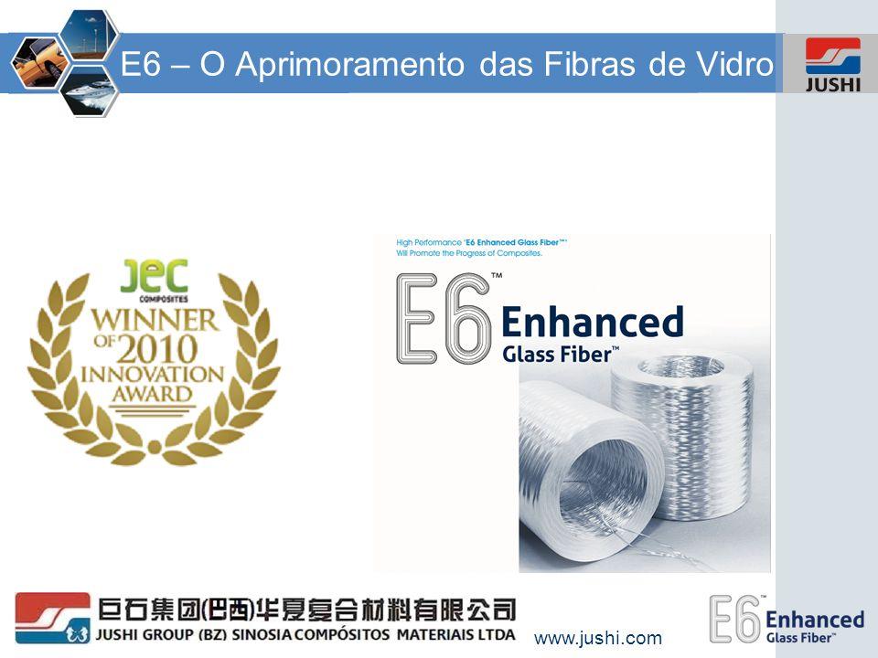 www.jushi.com E6 – Desenvolvendo e Estimulando a Indústria de Composites Esta inovação é o ponto culminante de quase três anos de trabalho do Grupo de Ciência e Tecnologia da Jushi.