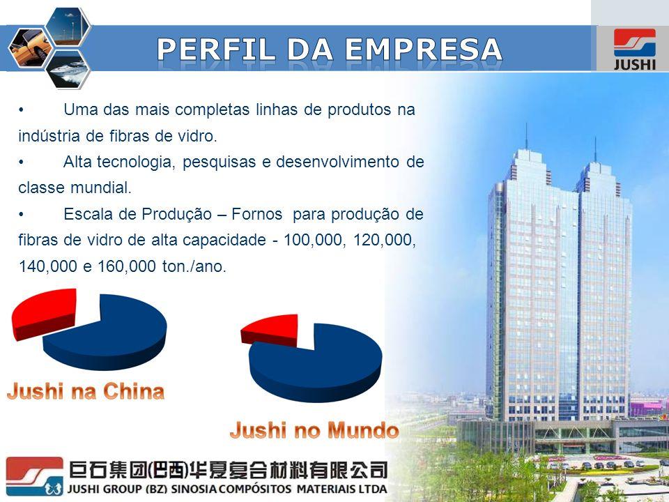 www.jushi.com Grupo Jushi – 3 Fabricas na China Tongxiang, na Província de Zhejiang Jiujiang, na Província de Jiangxi Chengdu, Província de Sichuan.