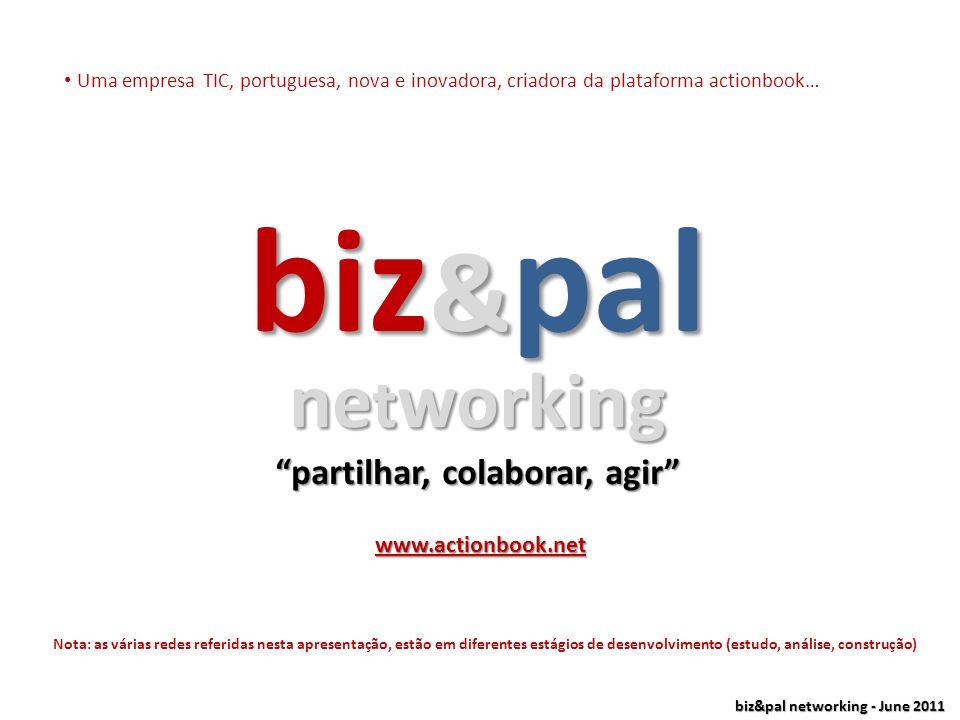 biz&pal networking - June 2011 ….resumindo, uma nova concepção de relacionamentos online relacionamentos online& acções da vida real (em conjunto) est