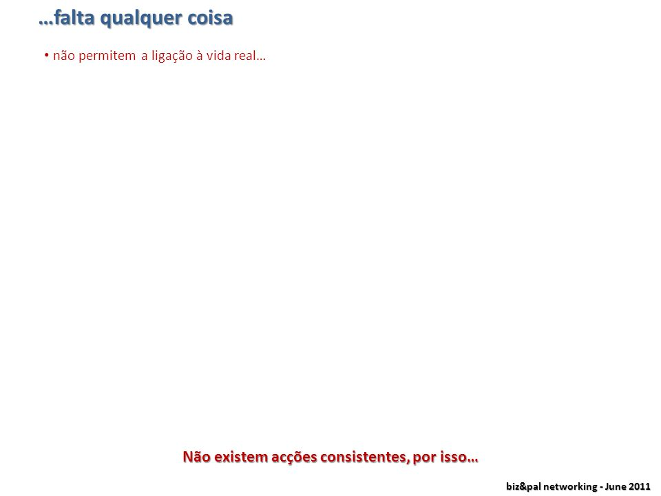 biz&pal networking - June 2011 …temos as redes sociais online grande número de membros e a crescer todos os dia (quase 4.000.000 em Portugal) relações