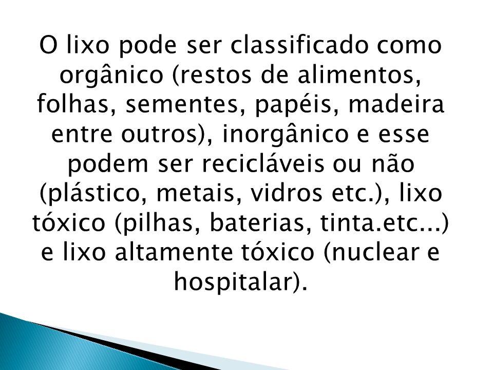 Contaminação do solo com produtos tóxicos e das pessoas que estão em contato.