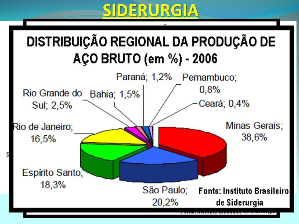 SIDERURGIA. A estrutura do setor siderúrgico brasileiro ao longo dos anos 90 passou por profundas mudanças, dentre as quais destacam-se a privatização