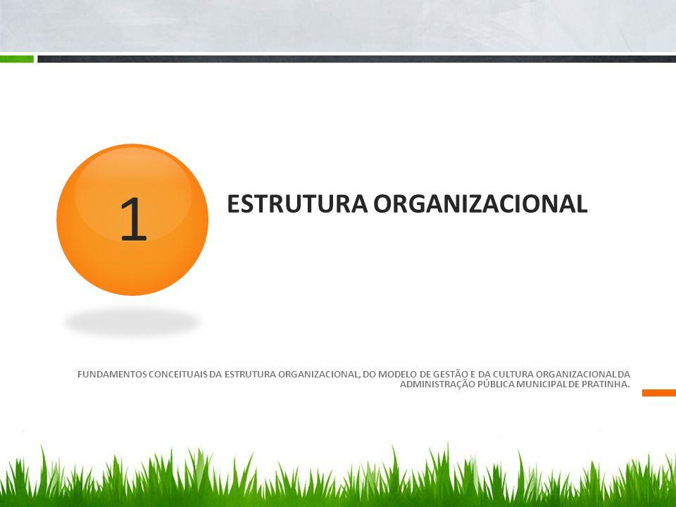ESTRUTURA ORGANIZACIONAL FUNDAMENTOS CONCEITUAIS DA ESTRUTURA ORGANIZACIONAL, DO MODELO DE GESTÃO E DA CULTURA ORGANIZACIONAL DA ADMINISTRAÇÃO PÚBLICA MUNICIPAL DE PRATINHA.