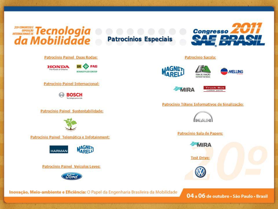 Patrocínio Painel Telemática e Infotainment: Patrocínio Painel Sustentabilidade: Patrocínio Painel Veículos Leves: Patrocínio Painel Internacional: Pa