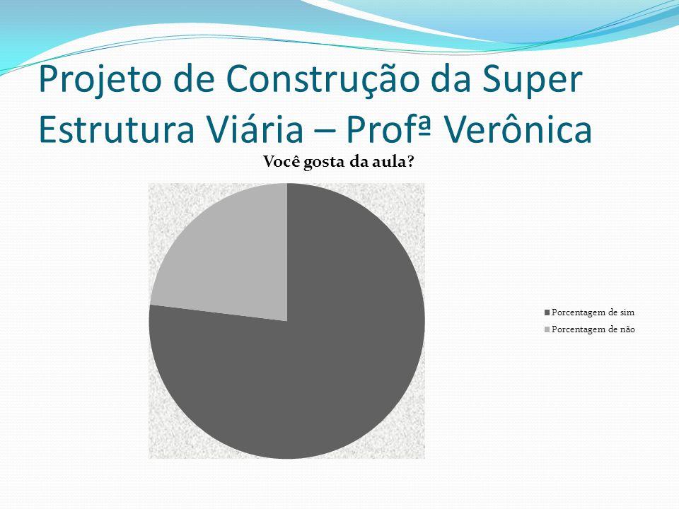 Projeto de Construção da Super Estrutura Viária – Profª Suely