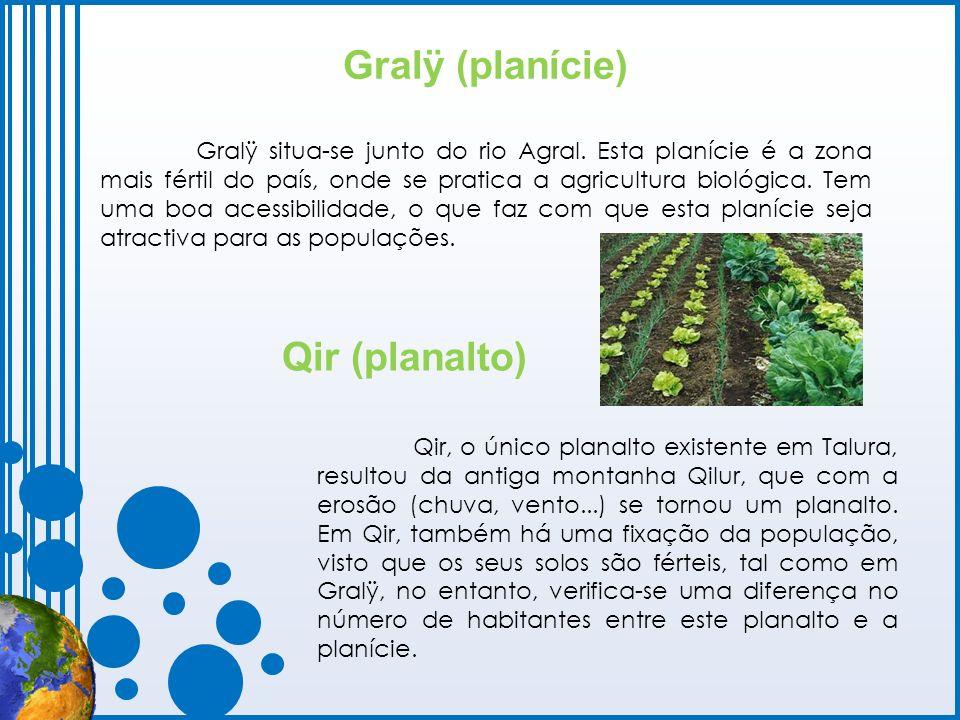 Gralÿ (planície) Gralÿ situa-se junto do rio Agral. Esta planície é a zona mais fértil do país, onde se pratica a agricultura biológica. Tem uma boa a