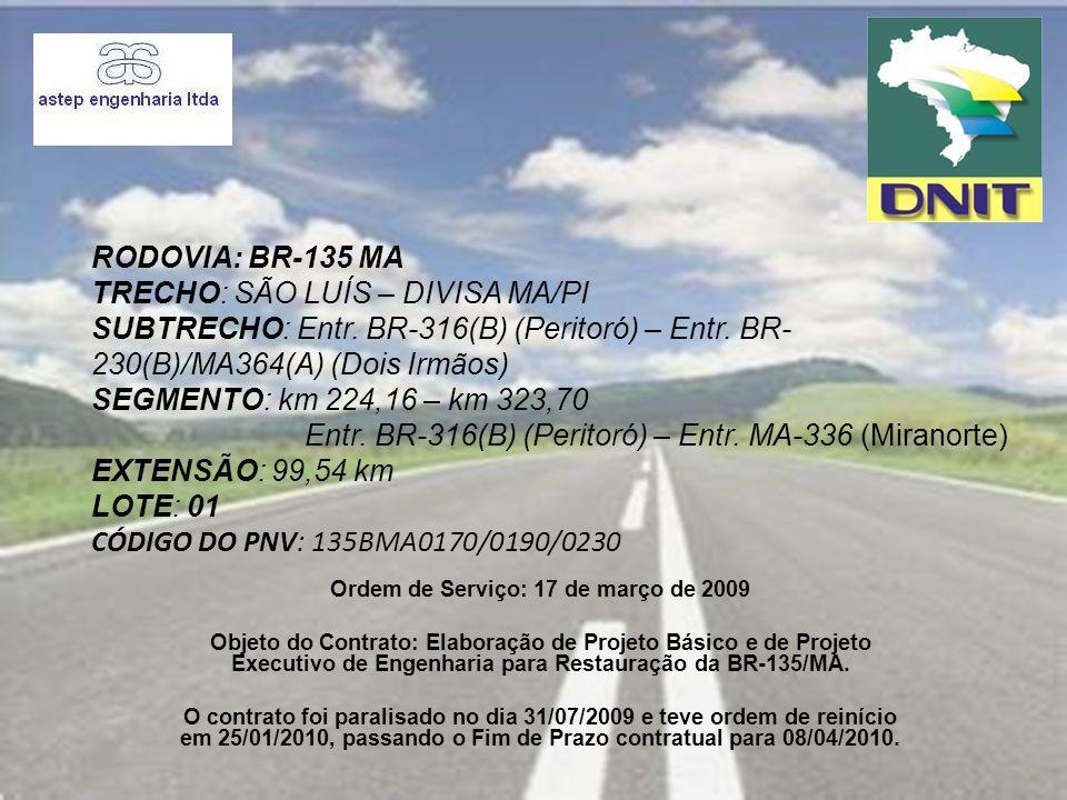 PROJETO PROJETO DE RESTAURAÇÃO DO PAVIMENTO SEGMENTO 02 Foto 01: Est.