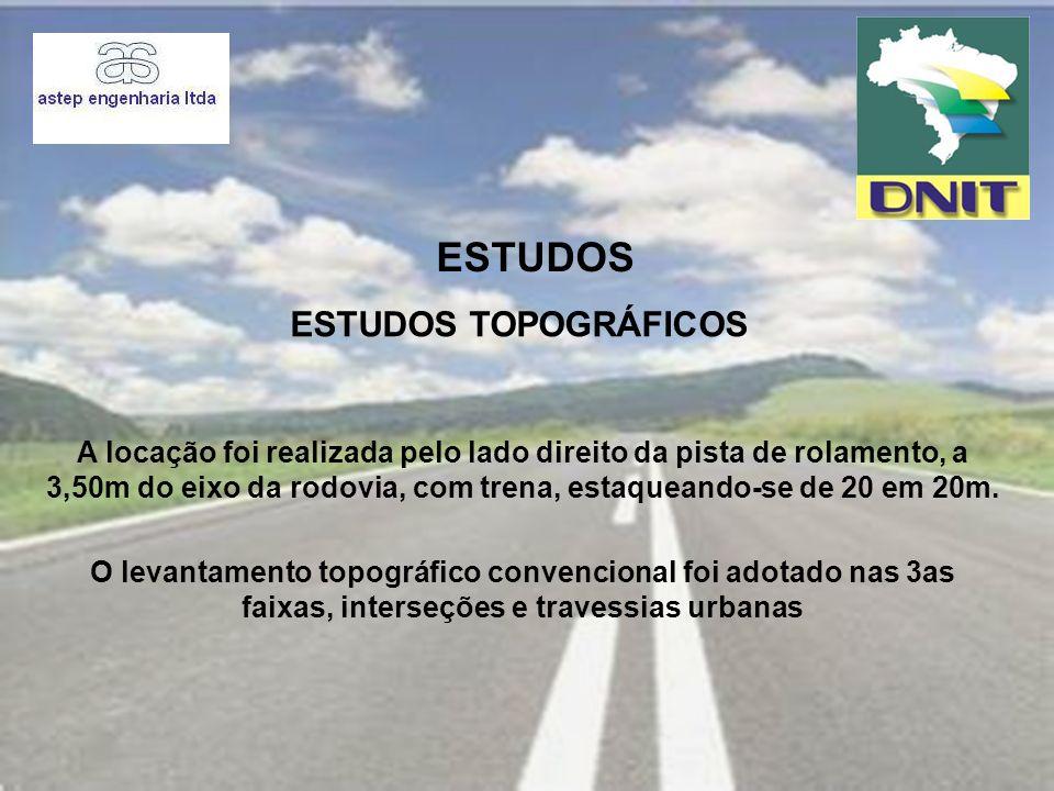 PROJETO O Projeto de Terraplenagem diz respeito aos melhoramentos na rodovia: terceiras faixas, interseções e travessias urbanas.