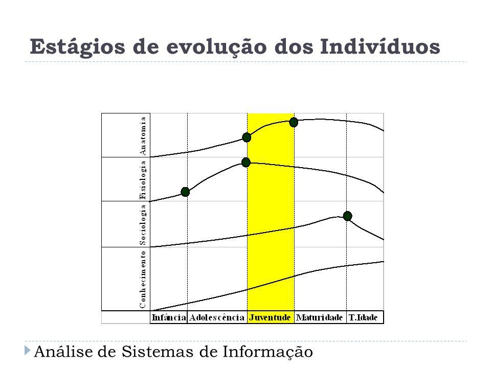 Estágios de evolução dos Indivíduos Análise de Sistemas de Informação
