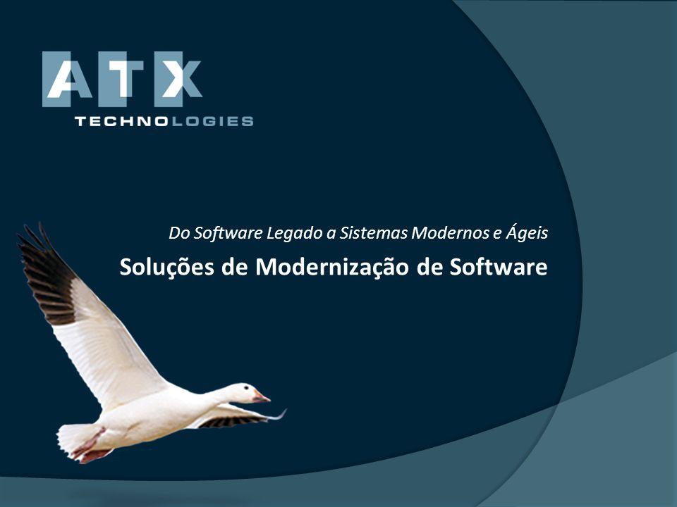 Parcerias com grandes players A ATX é parceira internacional da IBM na área da modernização e migrações de aplicações legadas desde Janeiro de 2011.