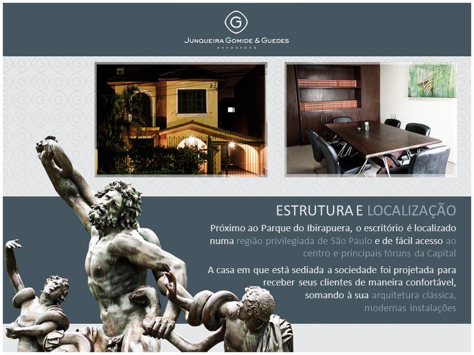 ESTRUTURA E LOCALIZAÇÃO Próximo ao Parque do Ibirapuera, o escritório é localizado numa região privilegiada de São Paulo e de fácil acesso ao centro e principais fóruns da Capital A casa em que está sediada a sociedade foi projetada para receber seus clientes de maneira confortável, somando à sua arquitetura clássica, modernas instalações