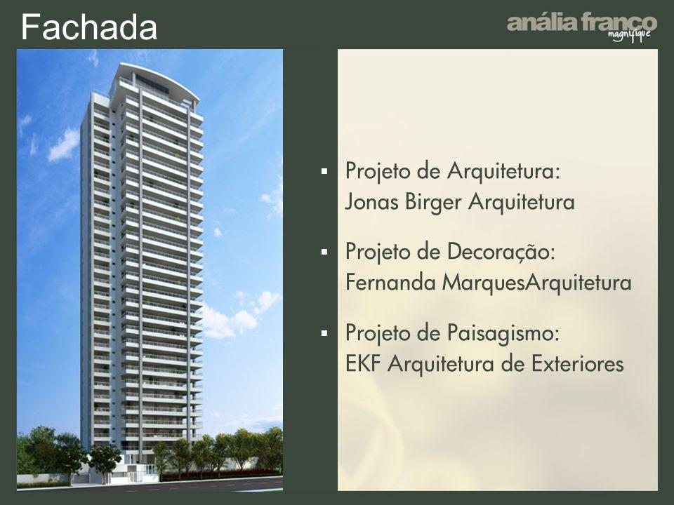 Fachada Projeto de Arquitetura: Jonas Birger Arquitetura Projeto de Decoração: Fernanda MarquesArquitetura Projeto de Paisagismo: EKF Arquitetura de E