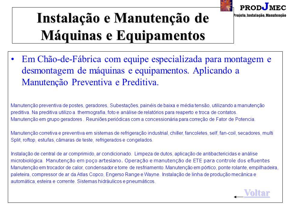 PROD J MEC Projeto, Instalação, Manutenção Temas para Treinamento Informática Básica Lição de Ponto Único - SPL Treinamento de operação e manutenção T