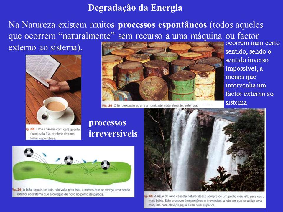 Em todos aqueles processos verifica-se a Lei da Conservação da Energia e, por conseguinte, a 1ª Lei da Termodinâmica.
