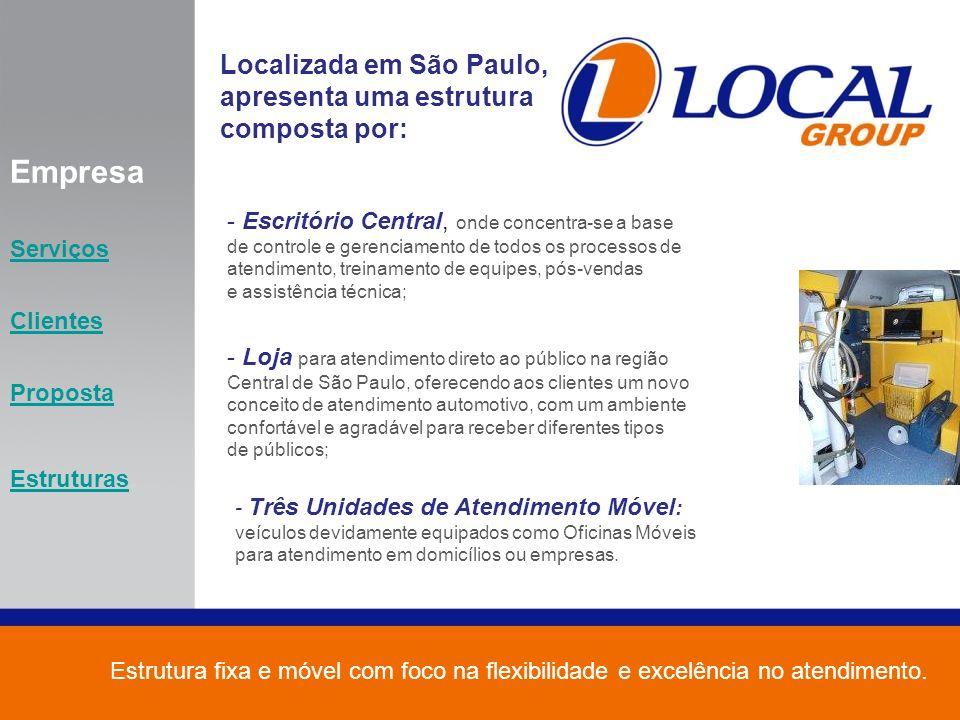 Localizada em São Paulo, apresenta uma estrutura composta por: - Loja para atendimento direto ao público na região Central de São Paulo, oferecendo ao