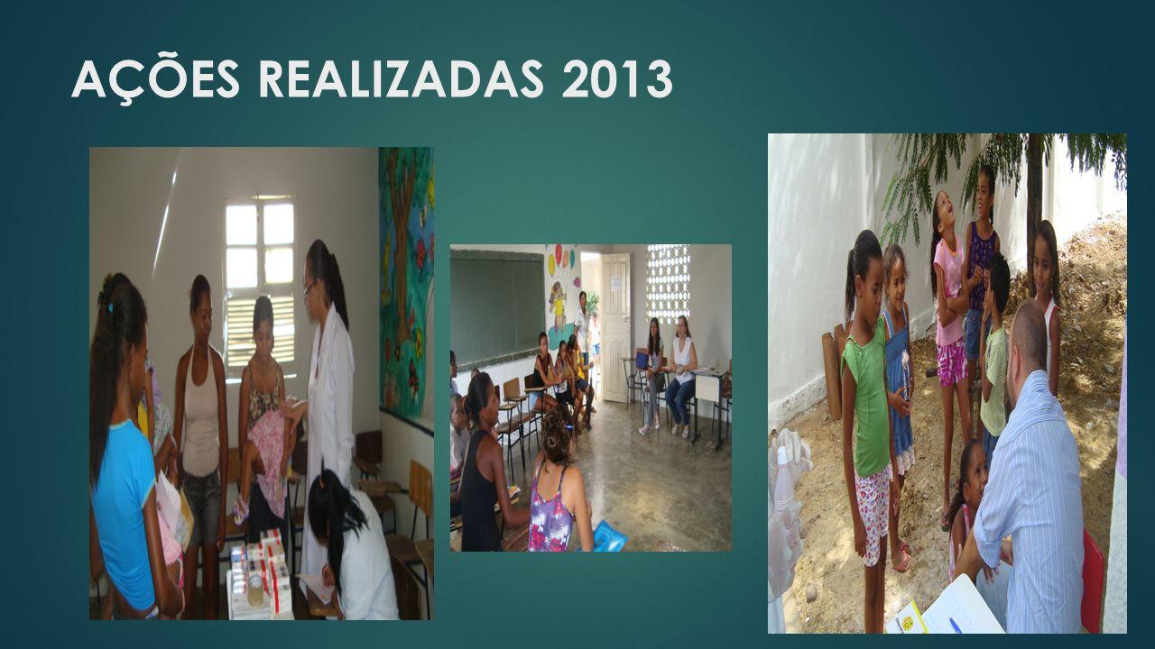 AÇÕES REALIZADAS 2013