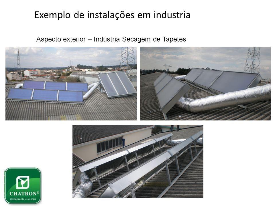Exemplo de instalações em industria Aspecto exterior – Indústria Secagem de Tapetes